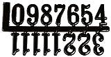 RAYHER HOBBY 8932200 cifre per Orologi, 20 mm, Autoadesivo, Self-Service Borsa 1 Set, Nero