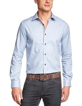 JACK & JONES PREMIUM Herren Hemd mit Manschetten, kariert 12061405 Dave Shirt L/S, Gr. 48 (S), Mehrfarbig (CASHMERE BLUE)