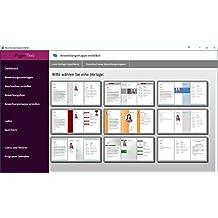Bewerbungen - das große Vorlagen Paket inklusive - komplett per Software erstellbar mit Deckblatt, Lebenslauf, Anschreiben und Zeugnissen