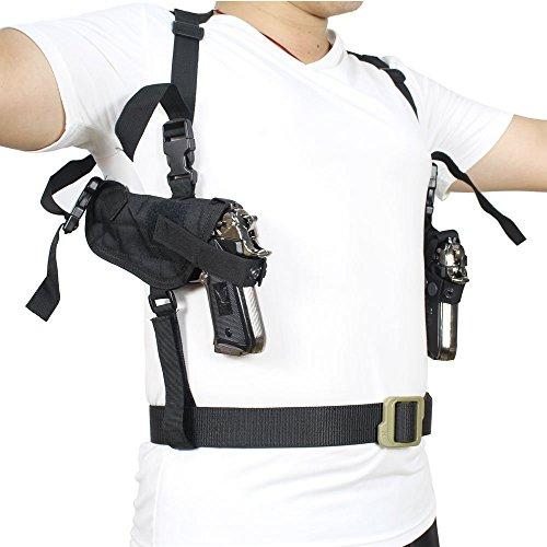 NIANPU Tactical Universal Doppel Schulterholster Dual beidhändig für alltägliche verdeckte Trageweise. Doppelpistolenholster. Beutel voll einstellbar unter Arm horizontale Pistole Träger