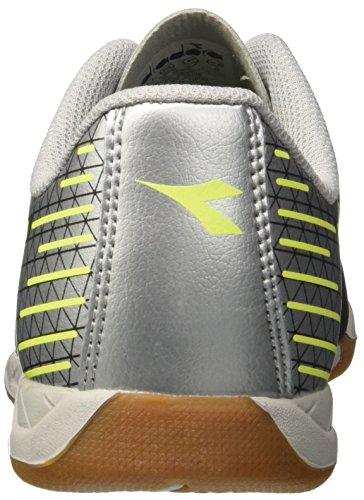 Diadora 7-Tri ID, Scarpe da Calcetto Indoor Uomo Nero (Nero Giallo Fl Dd Argento Dd)