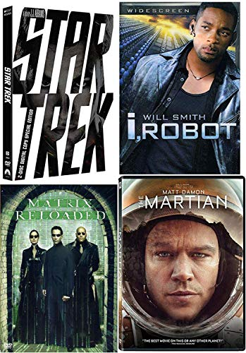 Mind-Freeing Sci-Fi Martian + Star Trek Special Edition & I, Roboter & Matrix Reloaded 4 Movie Collection DVD Pack