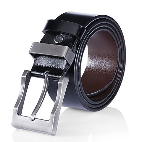 MEN'S Belts Leather Reversible Belt for Men 1.4