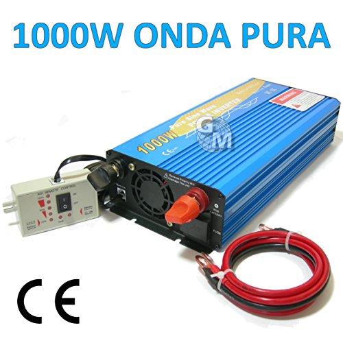 Power Inverter 1000W 1000W Watt reiner SINUS WECHSELRICHTER 12V DC 220V Camper Auto