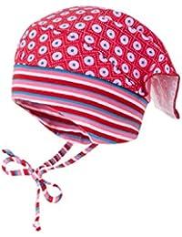 maximo Mädchen Mütze Kopftuchmütze mit Bindeband, Ausgenähter Bund