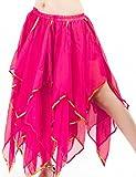 Astage Damen Fairy Bauchtanz Lange Rock Kleid Bauchtanz Kostüm Halloween Hotpink