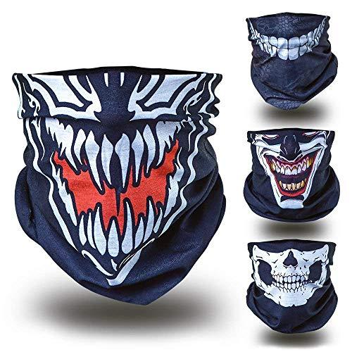 Venom Ghost Ninja Karneval Fasching gesichtsmaske gesichtsschal bandana sturmhaube funktionshaube gesichtshaube stirnhaube kopfbedeckung halsbedeckung stirntuch stirnband bekleidung hut mütze cap freizeit sommer winter herbst frühling urlaub BMX