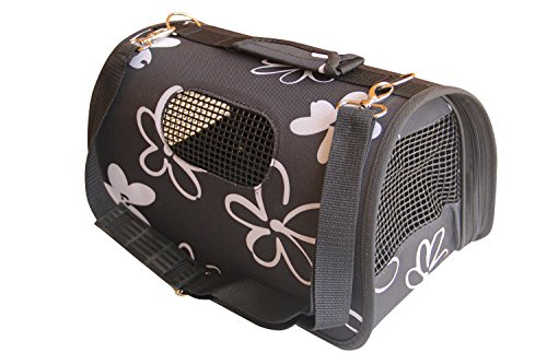 BPS (R) Träger Tragetasche Stoff Tasche für Hund, Katze, Haustier, Tiere, Größe M, 43.5x25x25cm (Schwarz) BPS-2121-3