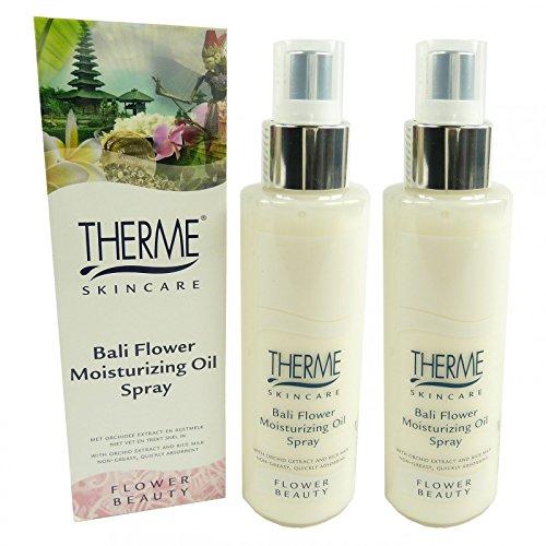 Feuchtigkeitsspendende Körper-spray (Therme Skincare Bali Flower Moisturizing Oil Spray Körper Öl MULTIPACK 2x125ml)