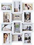 Arpan Multi Apperture Picture/Photo frame, Holds 12 x 6''X4'' Photos - Ideal Gift. Available in Black / White / Pink (WHITE)