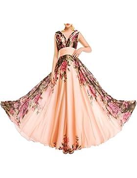 KAXIDY Vestito Fiore Donna Vestiti da Sera Eleganti Vestito da Sera Lungo Abiti da Cocktail Abiti da Sera Rosa...