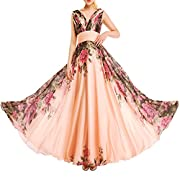 17b7c175e322 KAXIDY Vestito Fiore Donna Vestiti da Sera Eleganti Vestito da Sera Lungo Abiti  da Cocktail Abiti da Sera (Small)