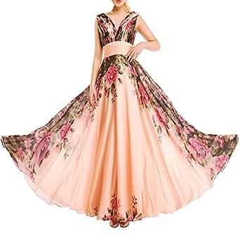 ef7d918a427f Immagine non disponibile. Immagine non disponibile per. Colore: KAXIDY  Vestito Fiore Donna Vestiti da ...