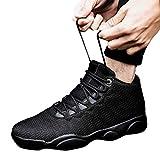 Sportschuhe Herren Schwarz Herrenschuhe High Top Sneaker Turnschuhe Männer Laufschuhe Rutschfeste Straßenlaufschuhe Atmungsaktiv Basketballschuhe Dasongff