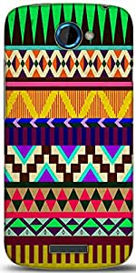 Snoogg Aztec Big Flow Designer Protective Back Case Cover For HTC One S