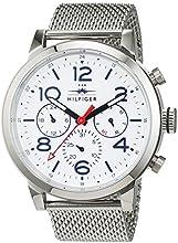 Tommy Hilfiger 1791233 - Reloj de pulsera hombre, Acero inoxidable, color Plateado