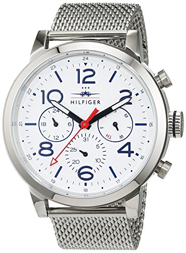 Tommy Hilfiger Herren Analog Quarz Uhr mit Edelstahl Armband 1791233