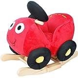 Knorr-baby 60017 Töff Töff - Coche balancín de madera y peluche, color rojo [importado de Alemania]