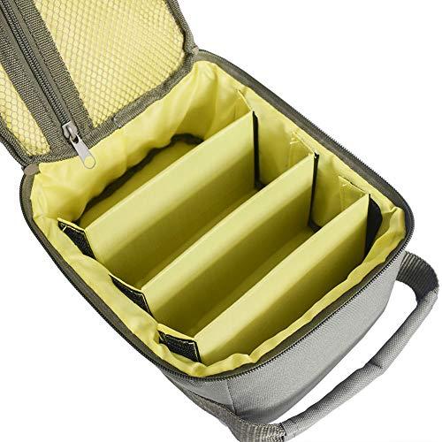 Bclaer72 Angelrolle Tasche, tragbare Angelrolle & Fanggerät Tasche tragen Aufbewahrungstasche wasserdicht 600D Oxford Fischköder Köder Tackle Taschen(Armeegrün)
