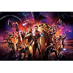 WYF The Avengers Captain America Comics, Adultos y niños Rompecabezas de Madera Marvel Hulk Movie Poster, 300/500/1000 Pieza P624 (Color : C, Size : 1000pc)
