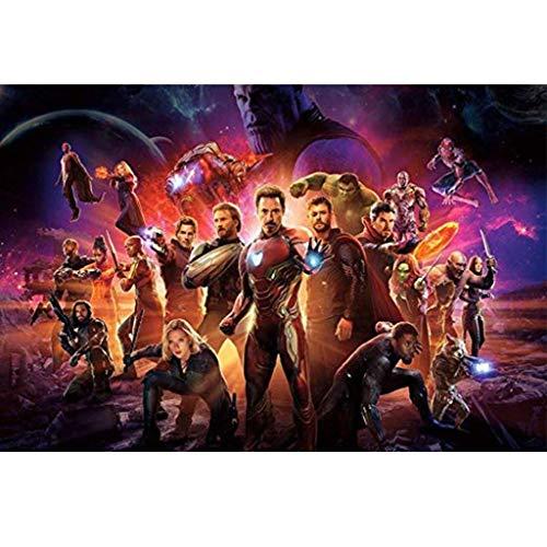 Unbekannt WYF Avengers Poster Puzzle, 300/1000 Teile MaxiInfinity War Movie Stills Puzzle Für Mädchen Kinder Erwachsene Feinschneiden P611 (Color : B, Size : 1000pc) - 300 York Teile Puzzle New