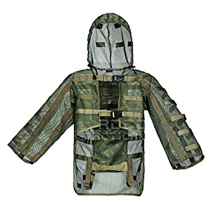 Airsoft Ghillie Hood, Ensemble Sniper Tog Ghillie Suit Foundation Hydration Compatible