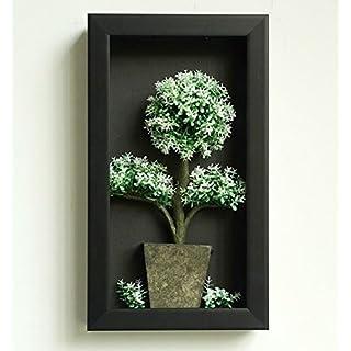 Artificial Flower-Wall Hanger 3D-Rahmen künstlichen Weihnachtsbäumen Arrangement Tisch Top Dekoration Oder Wand montiert Skulpturen Large weiß