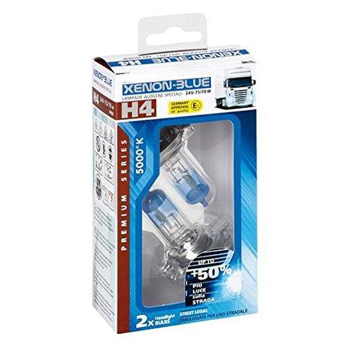 Camion Truck lampadina lampada lampadina lampada 24V H4Xenon Blue E1-Segno di prova 5000K