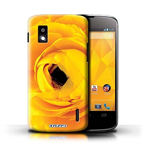 Kobalt® Imprimé Etui / Coque pour LG Nexus 4/E960 / jonquille conception / Série floral Fleurs Begonia