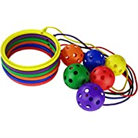 Only Cricket Hula Skipper Ankle Skip Ball Kids Garden Outdoor Fun Game Toy Pack Of 6