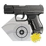 Set (P14): WALTHER P99 DAO elektrische Softair Waffe mit beweglichem Schlitten 0,5 Joule (2.5715) + 25 shoot-club Zielscheiben 14x14 cm + 2000 ShoXx.® Plastic BB Kal. 6 mm/0,12 Gramm