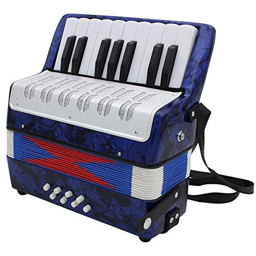 BLKykll Akkordeon, Mini Kleine 17 Noten Tasten, 8 Bässe, Einstellbare Schulter-Trageriemen Pädagogisches Musikinstrument Spielzeug Für Anfänger Kinder Bildung