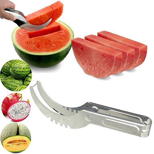 ShineVGift Watermelon Slicer Corer Stainless Steel Melon Peeler Anguria affettatrice
