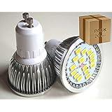 LED VENTA - PACK DE 20 UNIDADES DICROICA DE LED GU10 6W SMD5730 AC85-265V