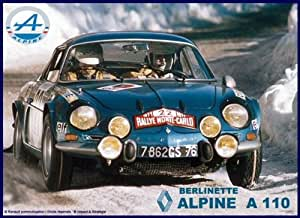 plaque métal 20x15 cm alpine renault a110 berlinette rallye monte carlo