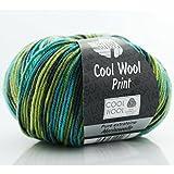 Cool Wool Print * Merino Wolle Cool Wool Print Lana Grossa in Tropenwald (Fb 784) * 1 Knäuel Wolle bunt + GRATIS MyOma-Label - Nadelstärke 3-3,5 mm - 50g/160m - 100% Merinowolle – Lana Grossa Wolle