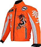 Kinder Racing Motorradjacke in Neon Orange (M)