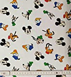 50 cm Baumwolljersey Jersey Disney Mickey Maus & Co weiß