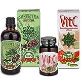 Cvetita Herbal,Tè Verde Con del Cacao + Vit C,Bruciatore di grasso per degli uomini e delle donne, Potente Antiossidante, propulseur di metabolismo
