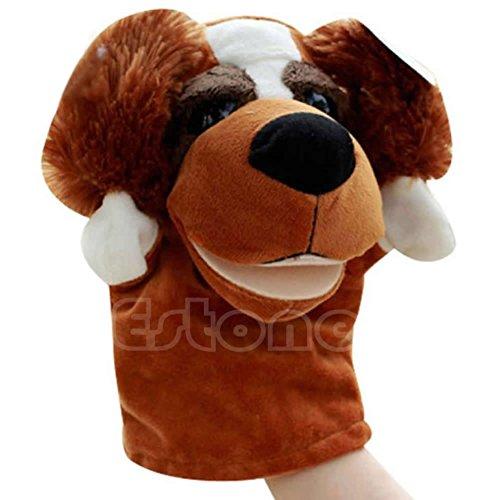 Dabixx Handpuppe Hund Haustier Plüschtier Hot Cute Sprechen Sprechen Schallplatte Hamster Pädagogisches Spielzeug für Kinder Geschenk Hund 24 × 16 cm