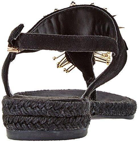 Versace Jeans Damen Scarpa Zehentrenner Schwarz