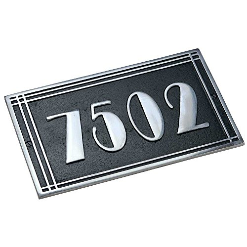 personalized-house-number-plates-by-the-metal-foundry-ltd-1-piece-art-deco-lined-style-casting-house