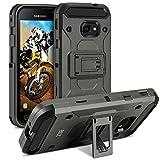 BEZ Cover Xcover 4 / Xcover 4s, Heavy Duty Cover Compatibile per Samsung Galaxy Xcover 4 / Xcover 4s, Holster Kickstand [Antiurto] Custodia Paraurti Rugged Adatta - Grigio