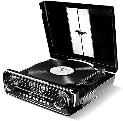 Ion Audio Mustang LP Retro 1965Ford 4-in-1transmisión por correa Tocadiscos
