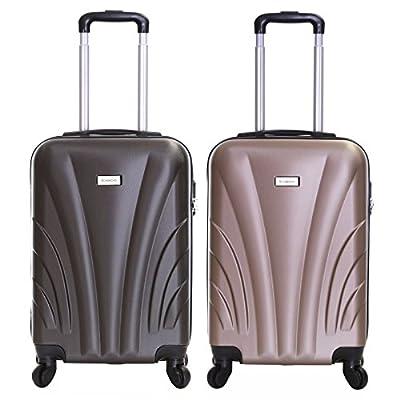 Slimbridge Ferro 55 cm Hard Cabin Approved Spinner Suitcase - inexpensive UK light store.