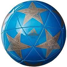 adidas campeón de Liga Finale Capitano Balón de fútbol - Champion's League Soccer Ball, 5, 2016 Solar Blue/Tech Earth/Vapor Grey