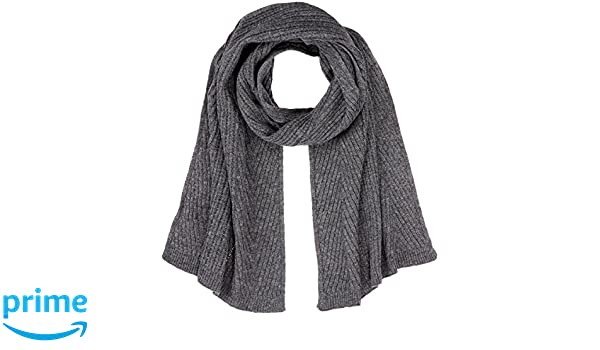 Womens Herringbone Stitch Scarf, Grey (Alloy Grey Melange 2224), One Size Tom Tailor