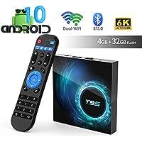 Android TV Box, TUREWELL T95 Android 10.0 Allwinner H616 Quadcore 4GB RAM 32GB ROM Mali-G31 MP2 GPU Soporte 6K 3D 1080P 2.4/5.0GHz WiFi 10/100M Ethernet BT 5.0 DLNA HDMI 2.0 H.265 Smart TV Box