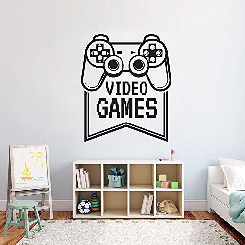 haochenli188 Spiele Wandtattoos Spiel Videokunst Wandtattoos Home Decoration Controller Video Jungen Schlafzimmer Dekor n Abnehmbare Leiste 57x47cm