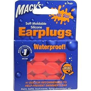 MACKS EARPLUGGS HOT ORANGE, 6X2 St